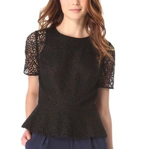 Club Monaco Lace Peplum Top